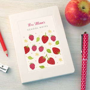 Personalised Floral Thankyou Teacher Notebook