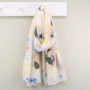 Polka Dot Pug Print Scarf - our top summer scarves