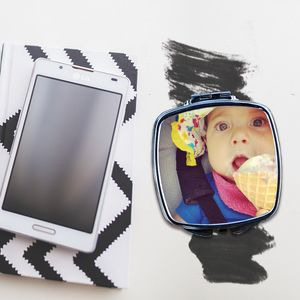Photo Personalised Compact Mirror - beauty gifts
