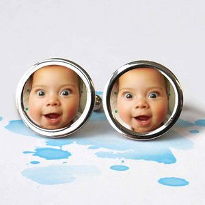 Hand Made Personalised Photo Cufflinks - first father's day
