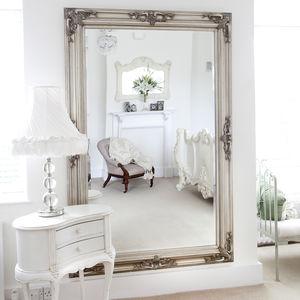 Classic Ornate Silver Mirror - mirrors