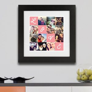 Personalised Framed Love Photo Print