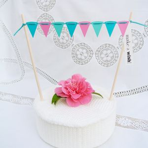 Design~Your~Own Cake Bunting With Greeting Label - cake decoration