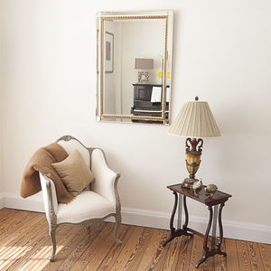 Beaded Bevelled Gold Mirror - mirrors