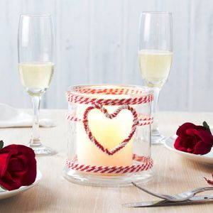Twine Heart Candle Holder