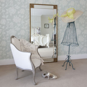 Bevelled Gold Full Length Mirror - mirrors