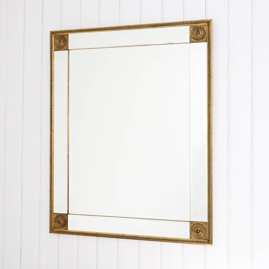 Bevelled gold full length mirror by decorative mirrors for Beveled mirror