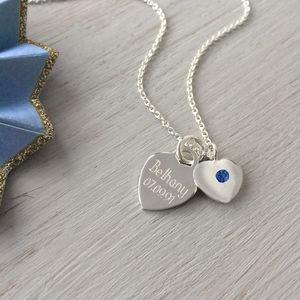 September Birthstone Personalised Silver Necklace - new in jewellery