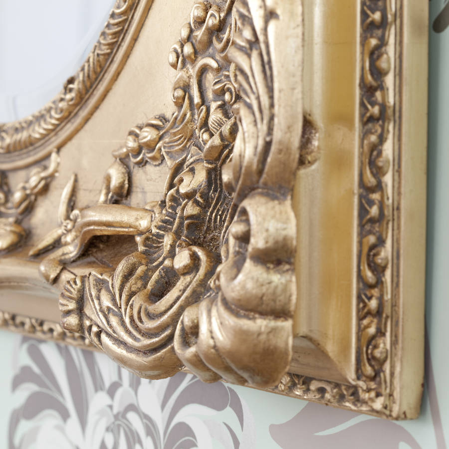 Gold Ornate Oval Mirror By Decorative Mirrors Online
