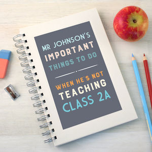 Personalised Thank You Teacher To Do Notebook