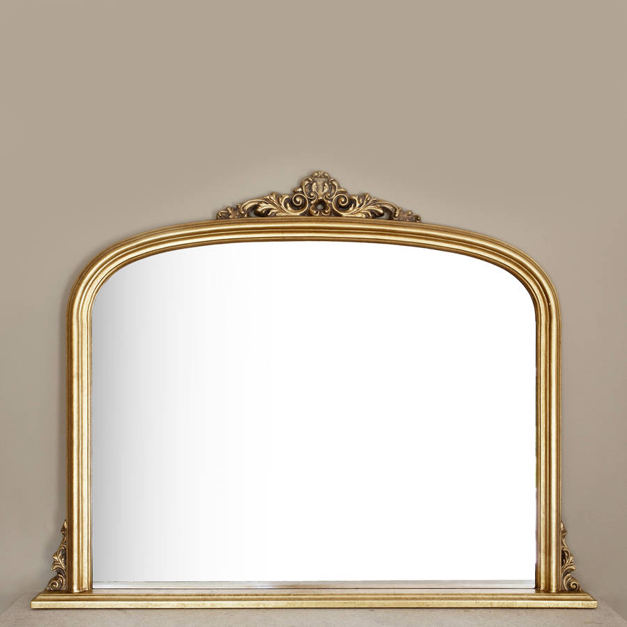 Gold overmantel mirror by decorative mirrors online for Decorative mirrors