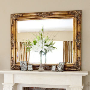 Classic Ornate Gold Mirror - mirrors