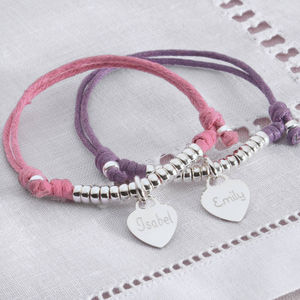 Girl's Personalised Sterling Silver Friendship Bracelet - children's accessories