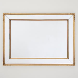 Double Framed Gold Mirror - mirrors