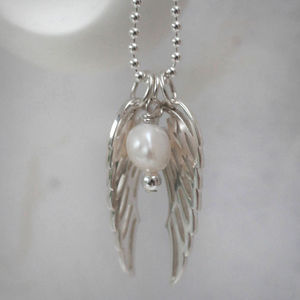 Girl's Sterling Silver Angel Wing Necklace