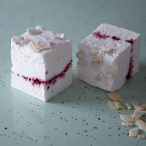 Almond And Sour Cherry Kensington 36 Mallow Party Box - cakes & treats