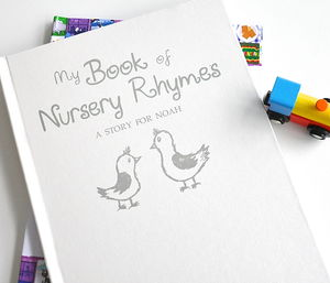 Silver Embossed Personalised Book Of Nursery Rhymes - books