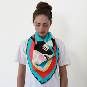 Mask And Chains Silk Square Scarf