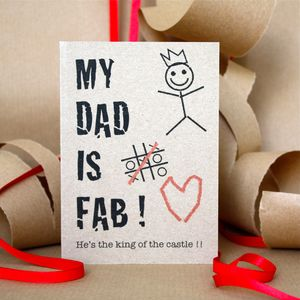 Fab Dad Card - father's day cards