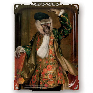 Galerie De Portraits Large Rectangular Tray Cornileus