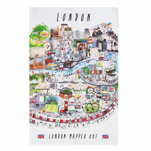 London Mapped Out Tea Towel - kitchen