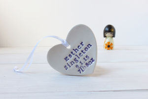 Personalised Baby Hanging Keepsake Gift