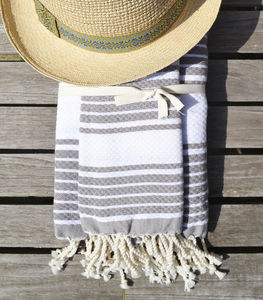 Mykonos Beach Hammam Towel Set - bed, bath & table linen