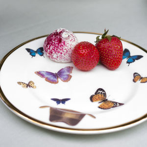 Hat And Butterfly Bone China Plate - dining room