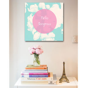 Floral Typography Print On Canvas - art & pictures