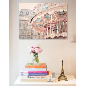 Paris Carousel Canvas Wall Art - canvas prints & art for children