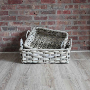 Handcrafted Wicker Woven Bakers Trays With Ear Handles - trays