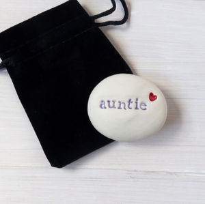 'Auntie' Keepsake Gift Pebble - view all sale items