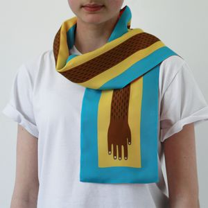 A Helping Hand Silk Scarf