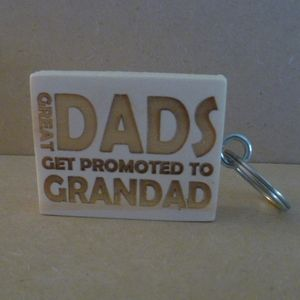 Great Dads Get Promoted… Keyring