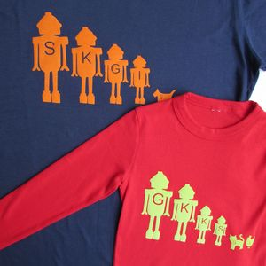 Personalised Dad And Child T Shirt Set