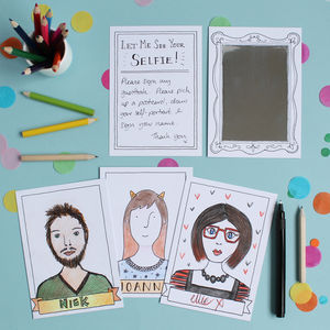 Wedding Guestbook Portrait Postcards - for children
