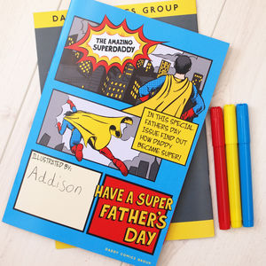 Personalised Why Daddy Is My Hero Activity Book - token gifts