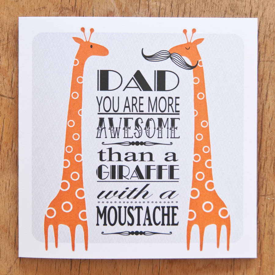 Awesome Dad Birthday Card By Clothkat