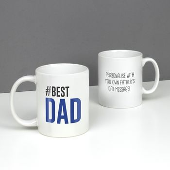Hashtag Best Dad Father's Day Mug