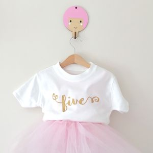 Child's Glitter Number T Shirt