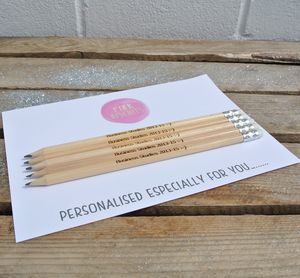 Personalised Graduation Pencils