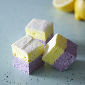 Lemon And Blueberry Primrose Hill 36 Mallow Party Box - sweet treats