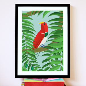 King Bird Of Paradise Print - art by category