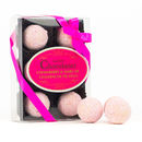 Pack Of Six Pink Champagne Truffles