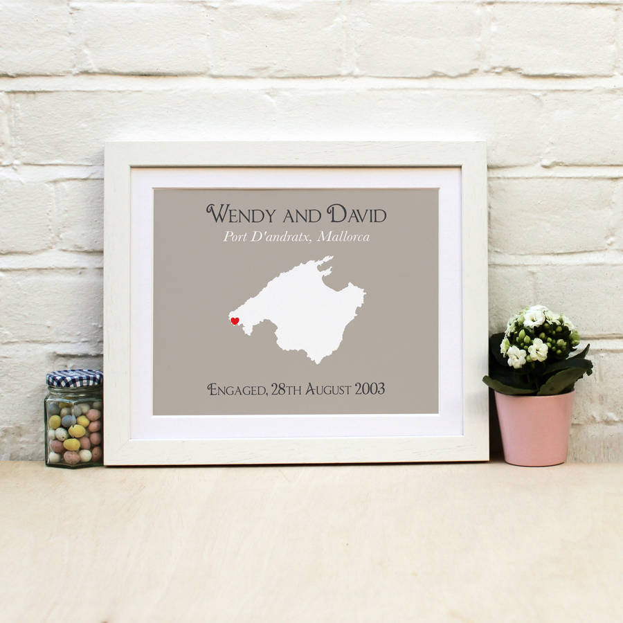 Engaged In Mallorca Personalised Print