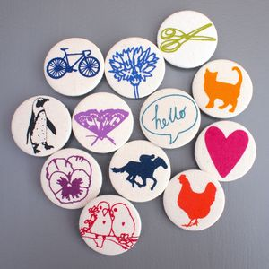 Screen Printed Pin Badge