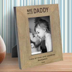 Me And Daddy Personalised Wooden Frame - picture frames