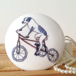 Dog On A Bike China Jewellery Trinket Box - jewellery storage & trinket boxes