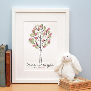 Father's Day Fingerprint Tree Keepsake