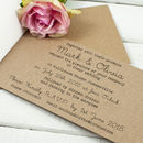 Country Bunting Stitched Wedding Invitation Booklet